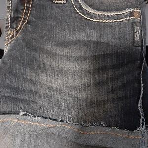 Silver jean short